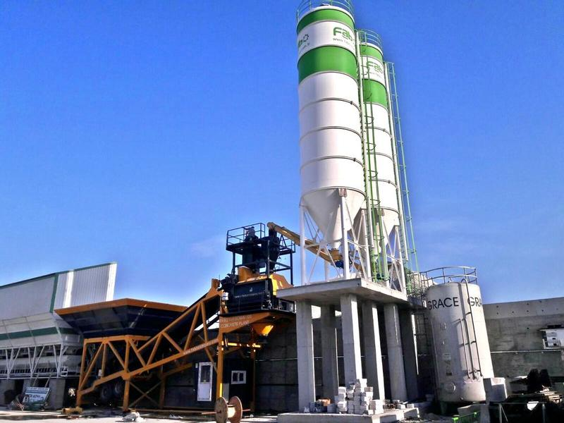 Fabo TURBOMIX SERIES 100m3/h MOBILE CONCRETE BATCHING PLANT