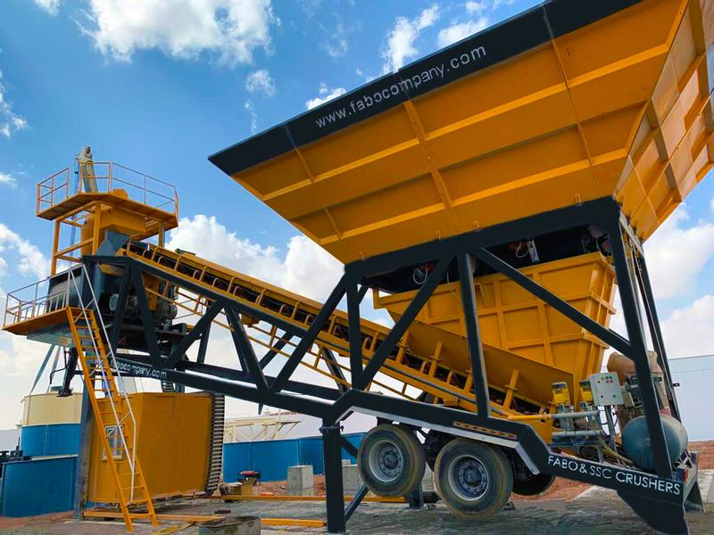 Fabo TURBOMIX-100 MOBILE CONCRETE BATCHING PLANT | CALL NOW