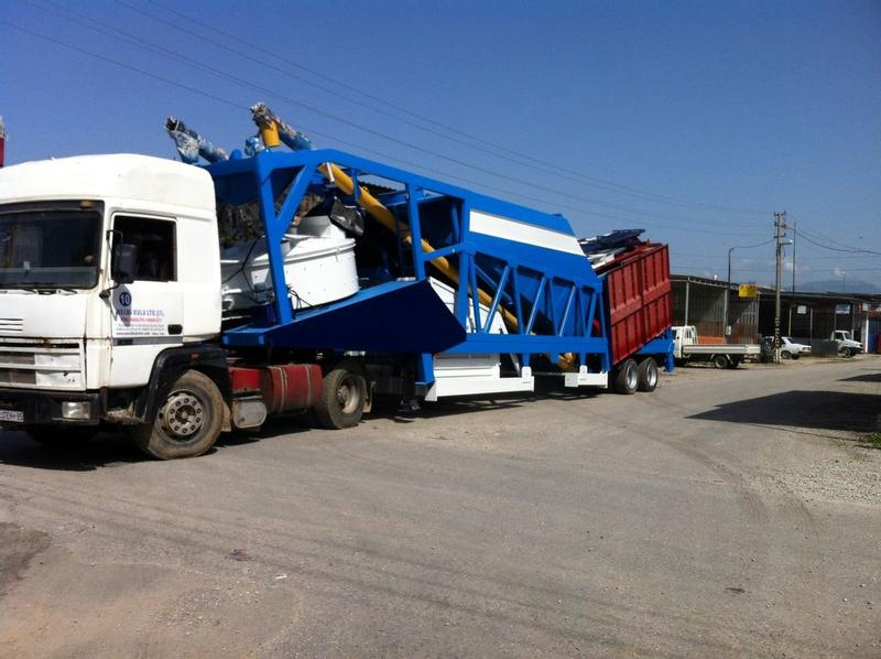 Fabo TURBOMIX SERIES 90m3/h MOBILE CONCRETE BATCHING PLANT