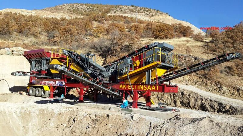 Fabo MCK-60 SERIES MOBILE CRUSHING & SCREENING PLANT FOR HARDSTONE